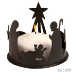 candle holder india nativity