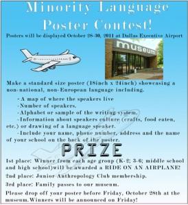 International Museum of Cultures Minority Language Poster Contest